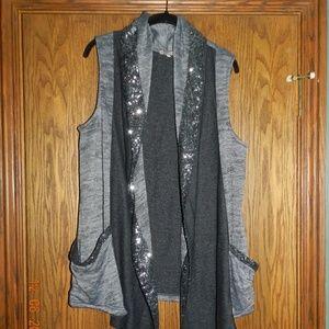Women's Juicy Couture Grey/Black w/Sequin Vest